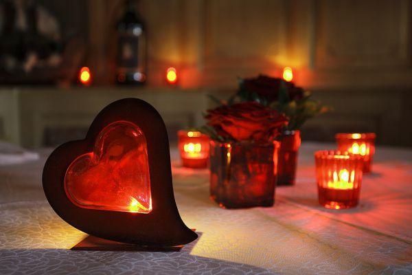 Herz Tischdekoration